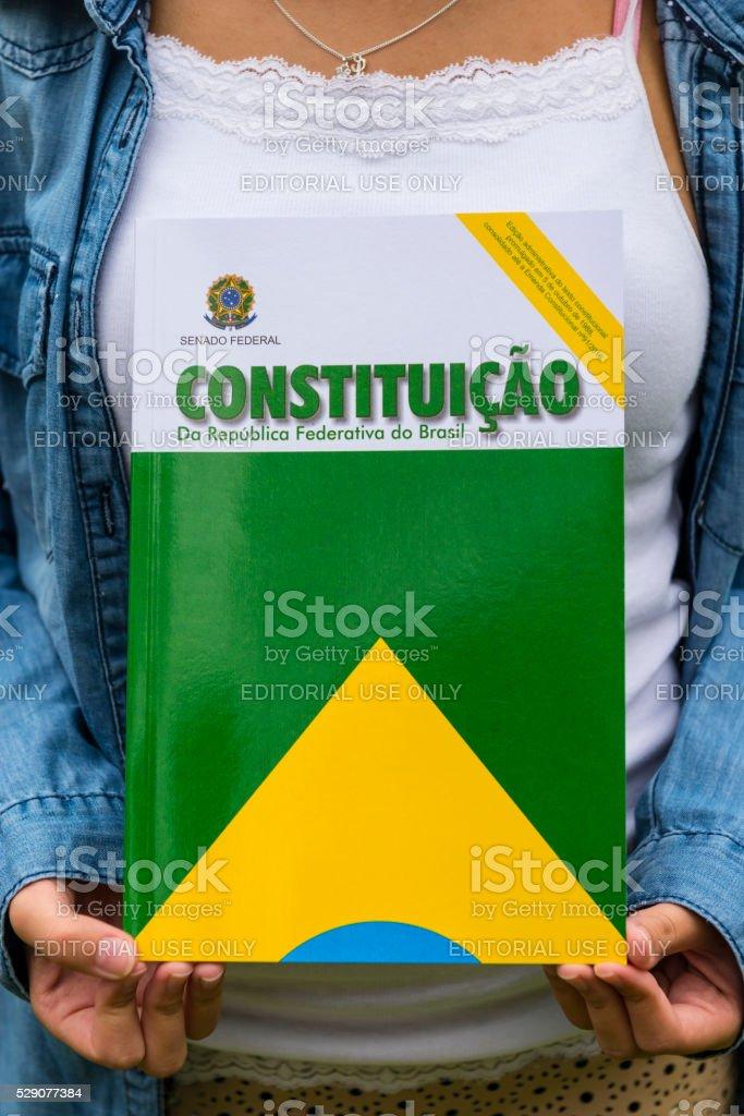 Brazilian Constitution stock photo