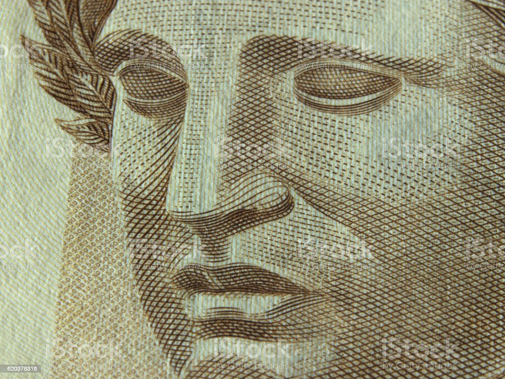 Brazilian currency close up stock photo