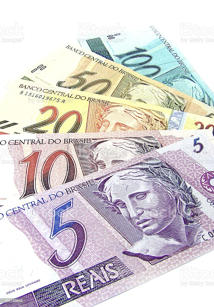brazilian currency royalty-free stock photo