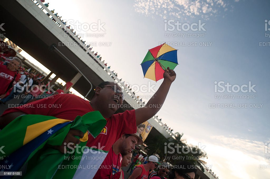 Brazilian Demonstrators stock photo