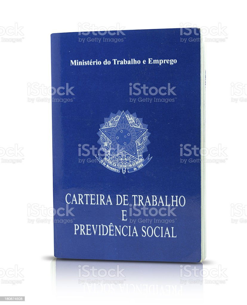 Brazilian document work and social security royalty-free stock photo