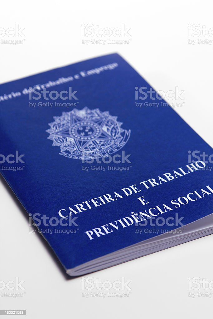 Brazilian document work royalty-free stock photo