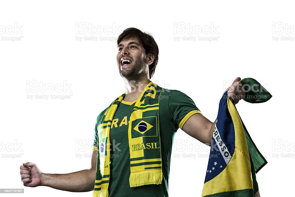Brazilian Fan royalty-free stock photo