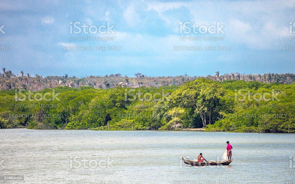 Brazilian fishermen - Alcantara, Maranhao. stock photo
