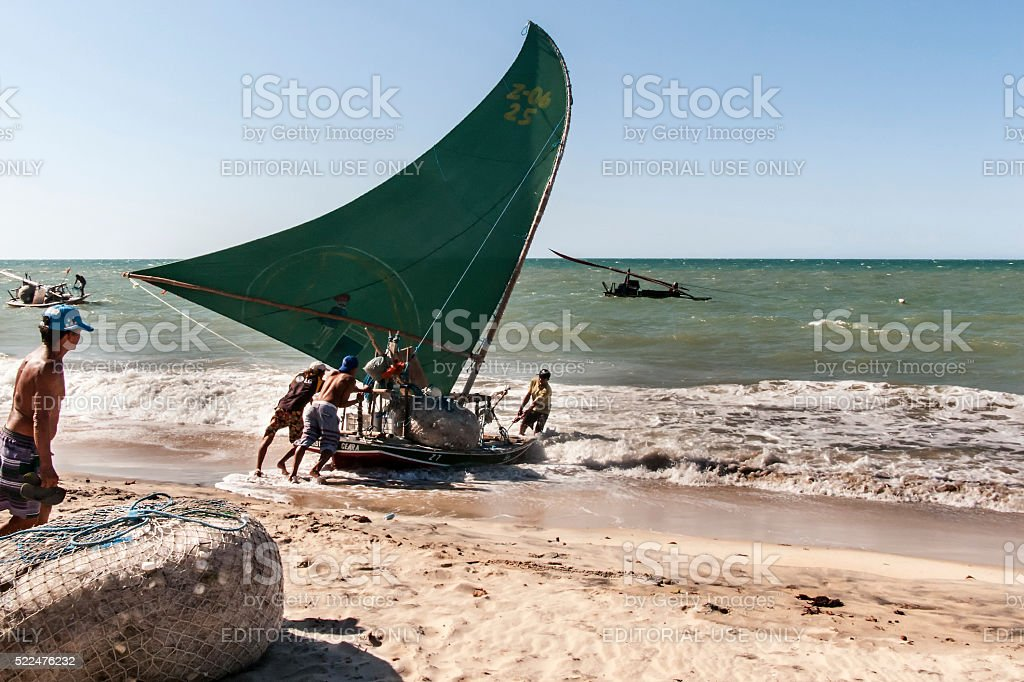 Brazilian fishermen stock photo