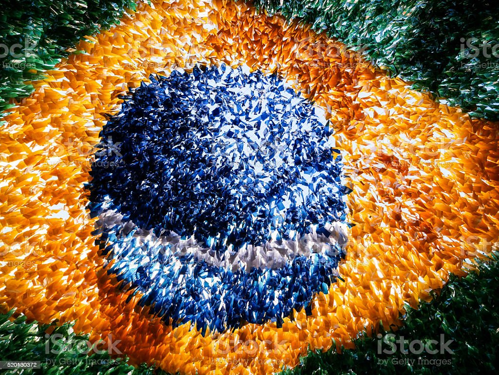 Brazilian flag decoration stock photo