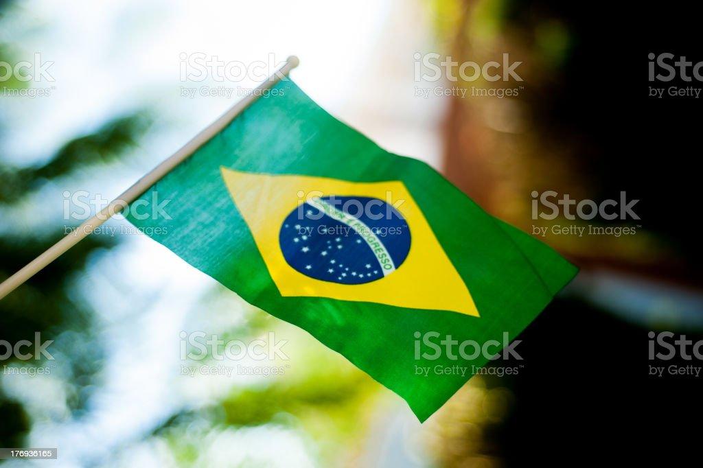 Brazilian Flag Fluttering #2 stock photo