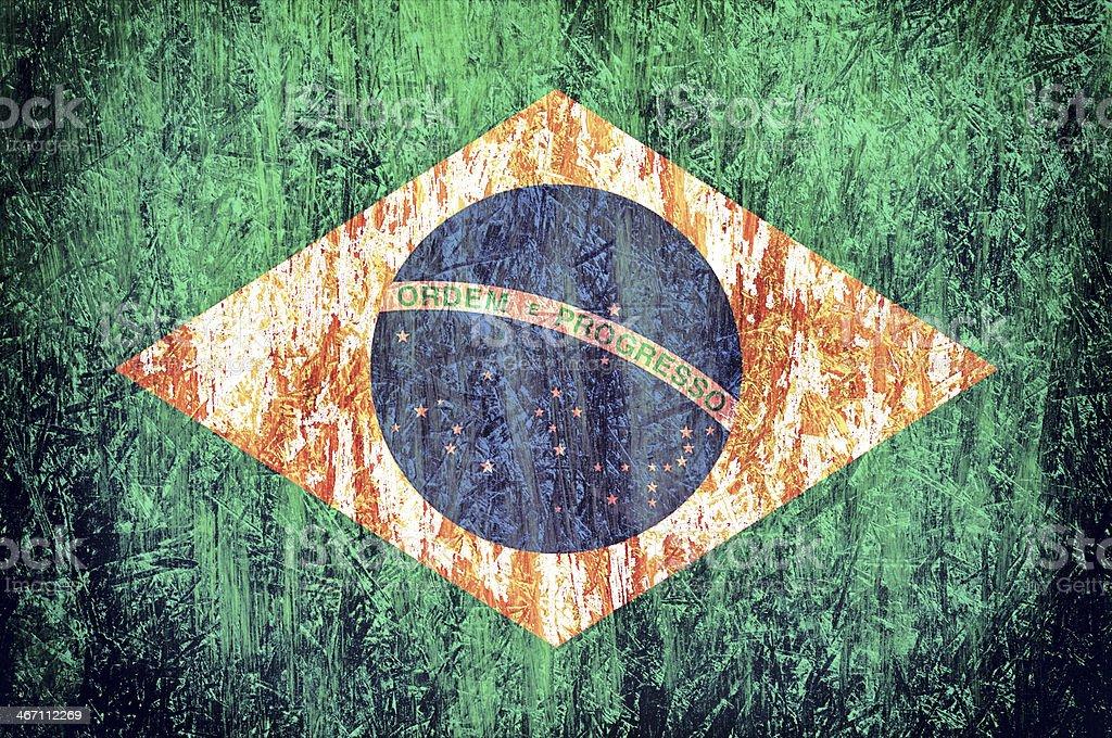 Brazilian flag royalty-free stock photo