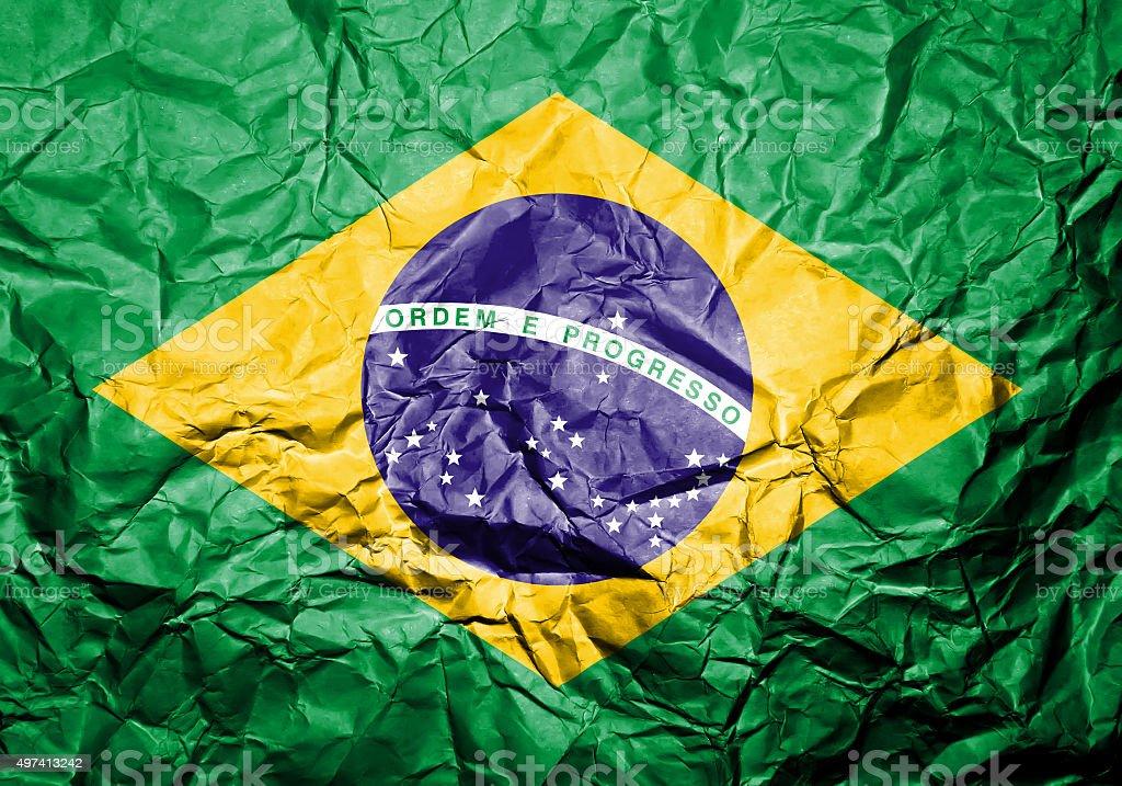Brazilian flag. stock photo