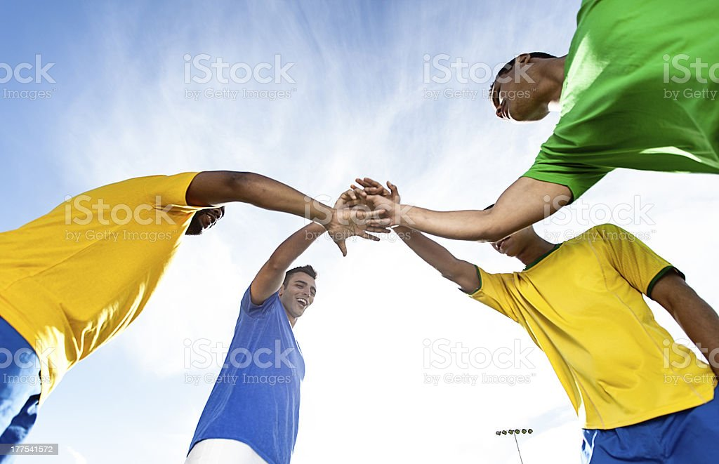 Brazilian Football Fans Celebrating. royalty-free stock photo