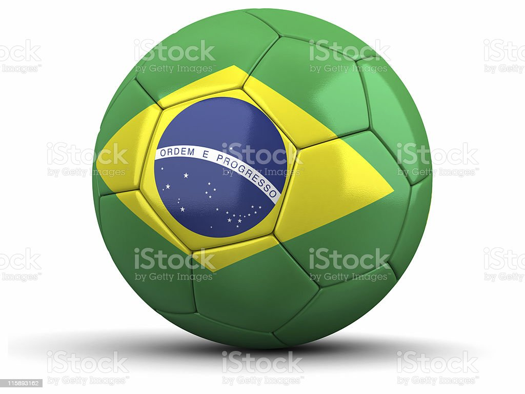 Brazilian Football royalty-free stock photo