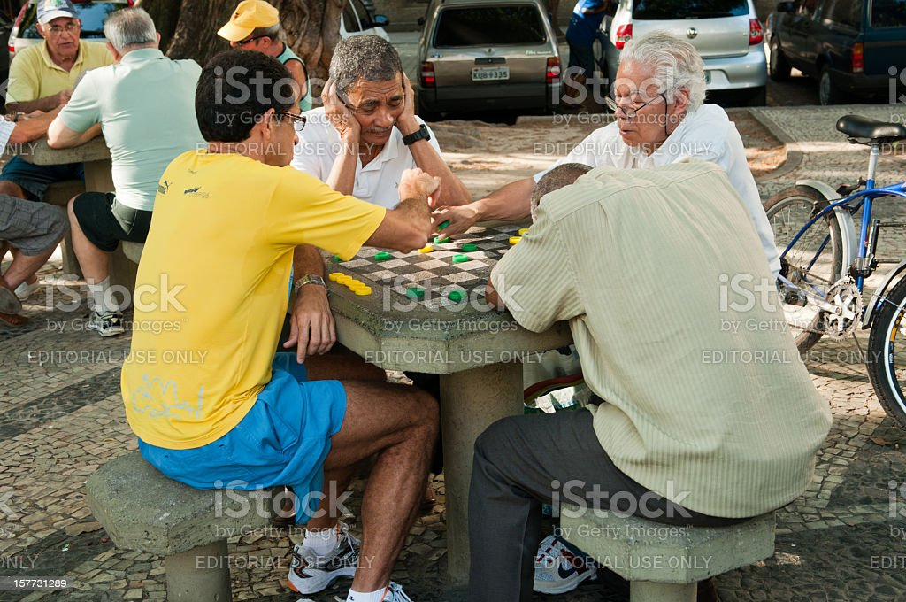 Brazilian Game of Cards stock photo