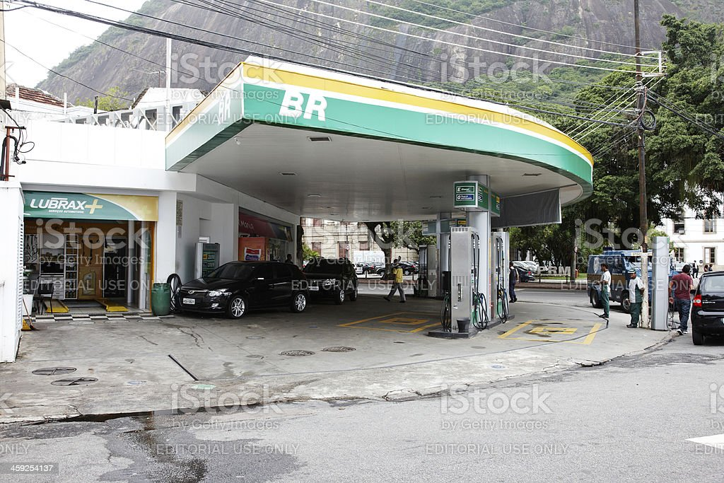Brazilian gas station royalty-free stock photo