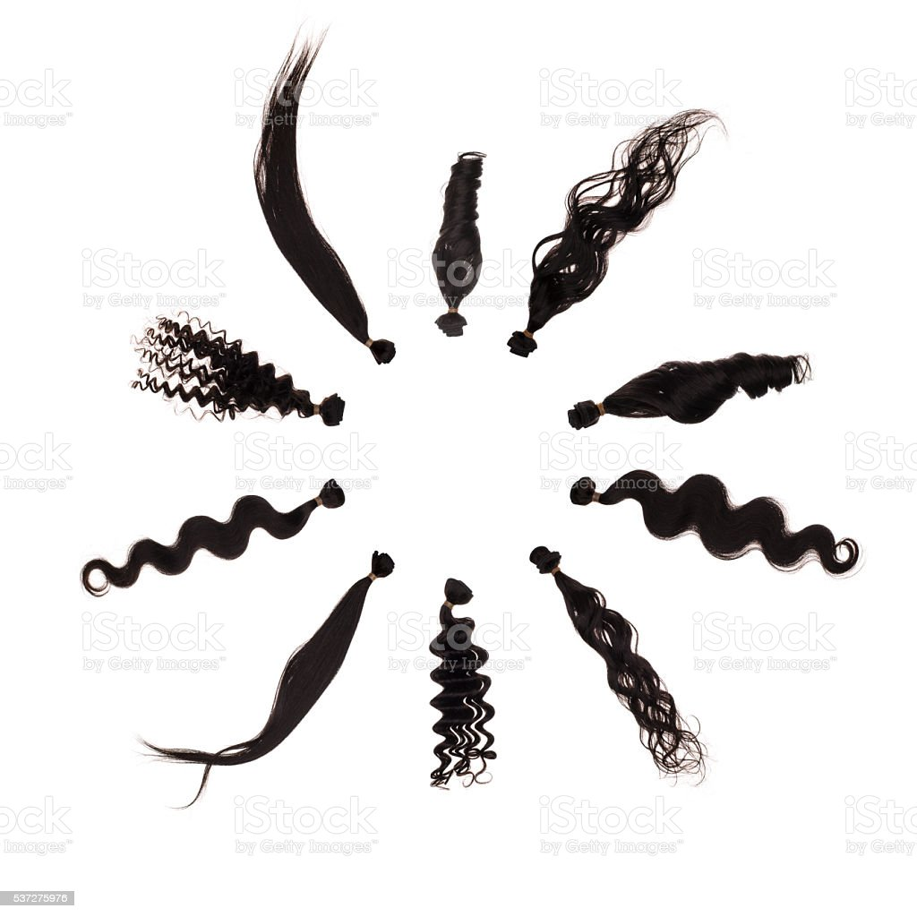 Brazilian hair extension. stock photo