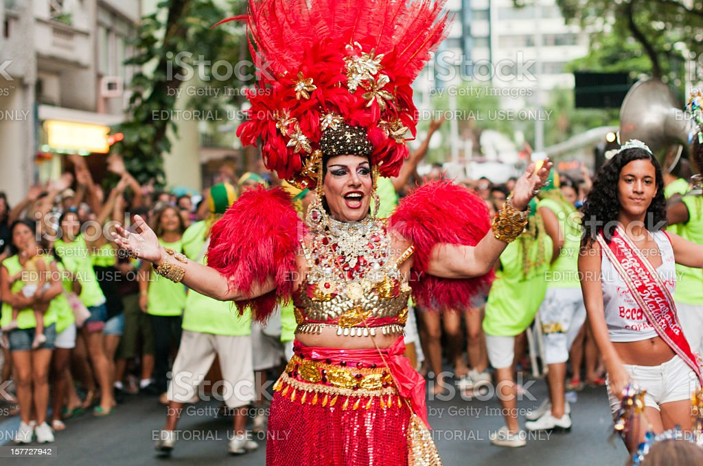 Brazilian, He-Carmen Miranda royalty-free stock photo