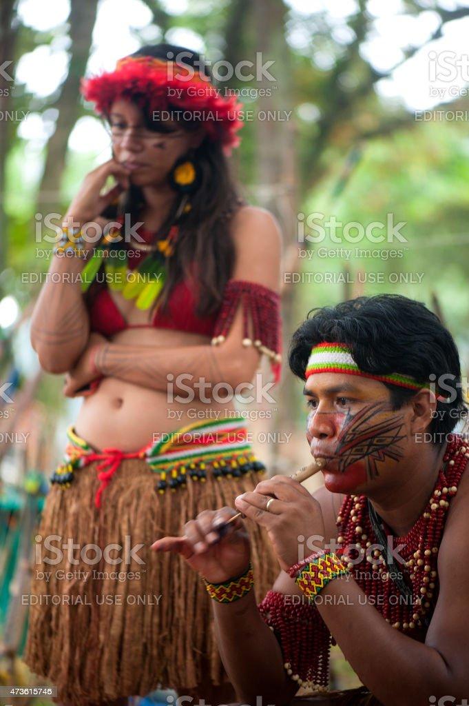 Brazilian Indians stock photo