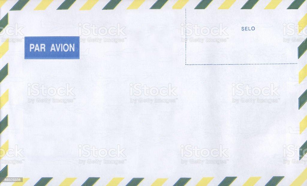 Brazilian International Mail Envelope - big size stock photo