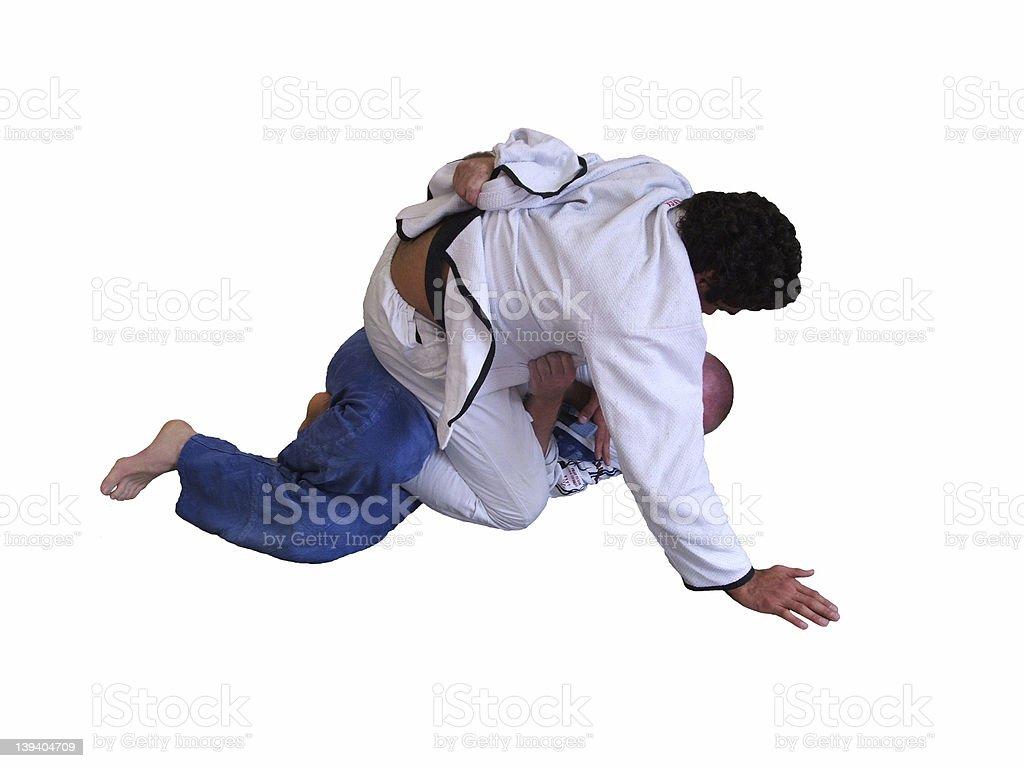 Brazilian Jiu Jitsu - Mount stock photo