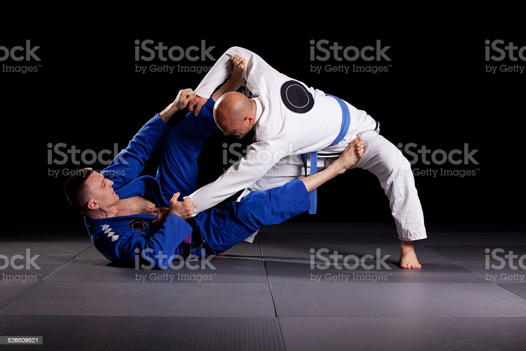 Brazilian jiu-jitsu martial arts stock photo