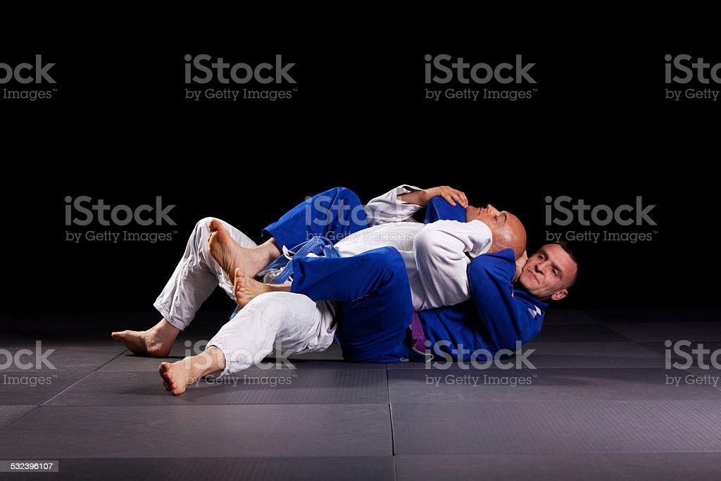 Brazilian jiu-jitsu martial arts stock photo