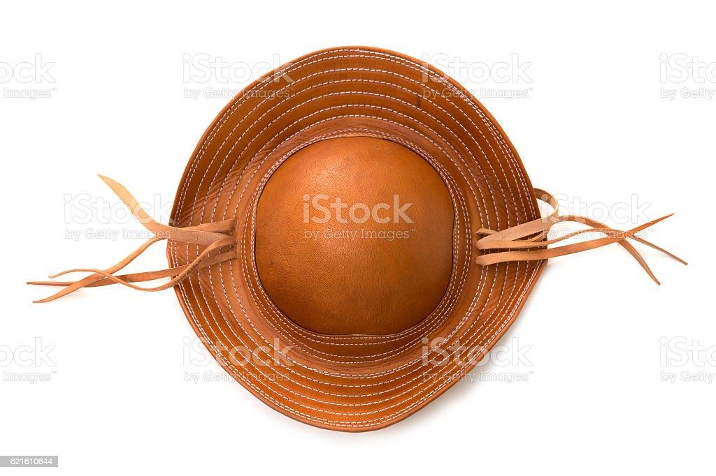 Brazilian leather hat, typical of the northeast Brazilian people stock photo