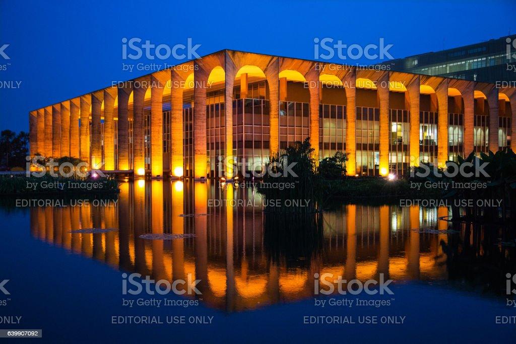 Brazilian Ministry of External Relations, Itamaraty Palace, Brasilia, Brazil stock photo