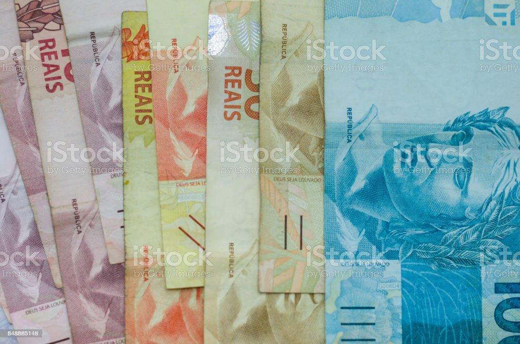 Brazilian money. stock photo
