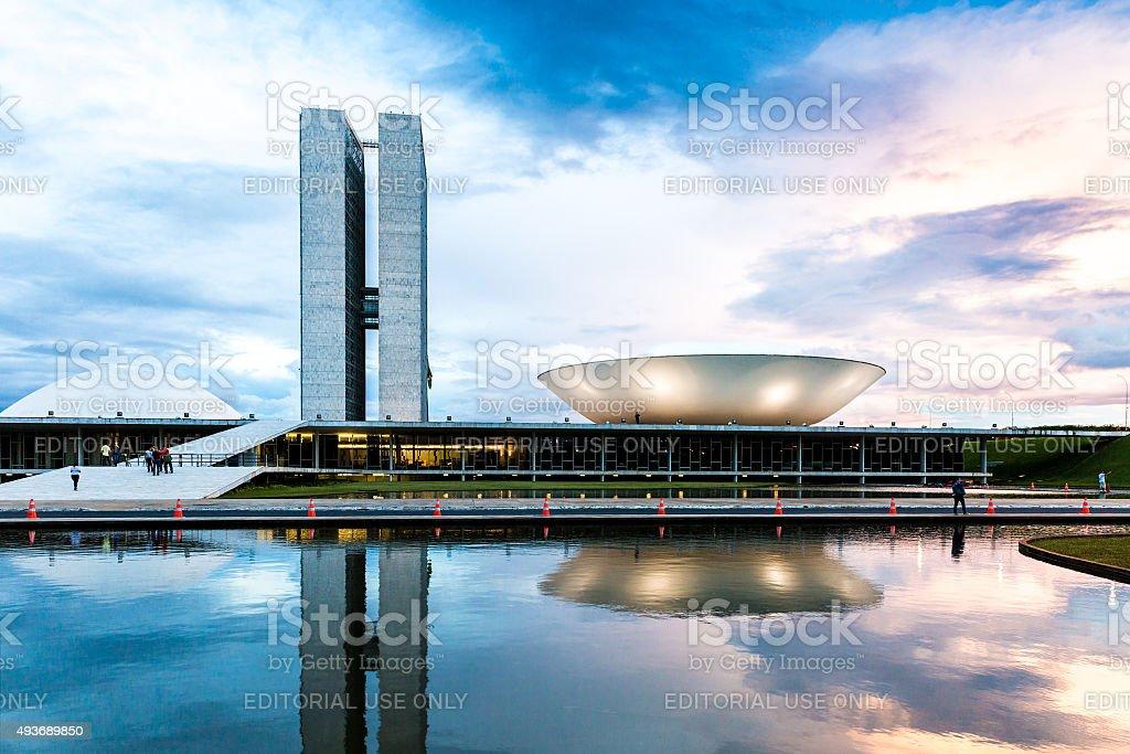 Brazilian National Congress in Brasilia, Brazil stock photo