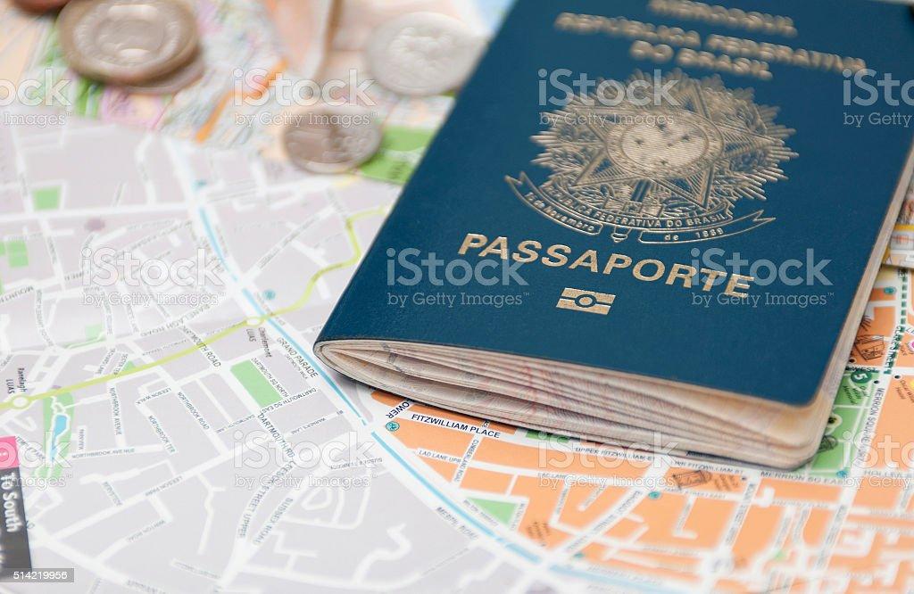 Brazilian Passport stock photo