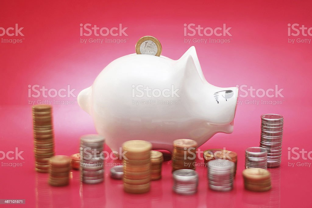 Brazilian Piggy Bank stock photo