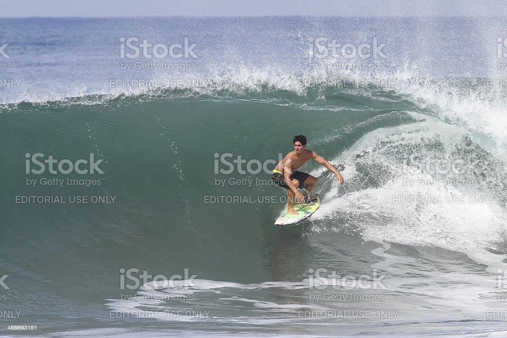 Brazilian pro surfer Gabriel Medina stock photo