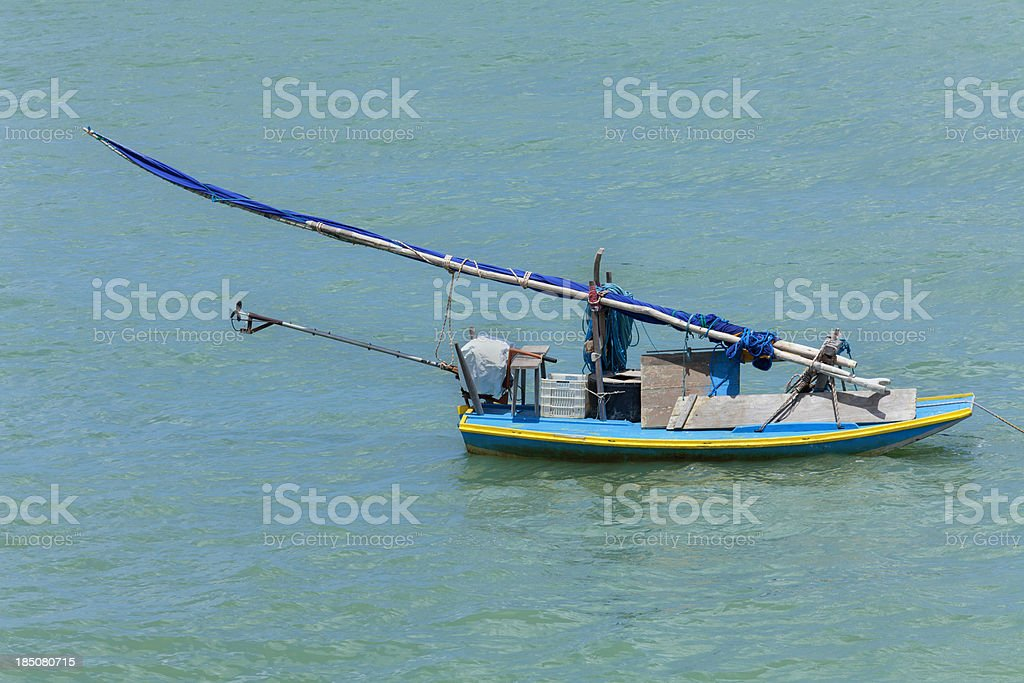 Jangada brazilian boat stock photo
