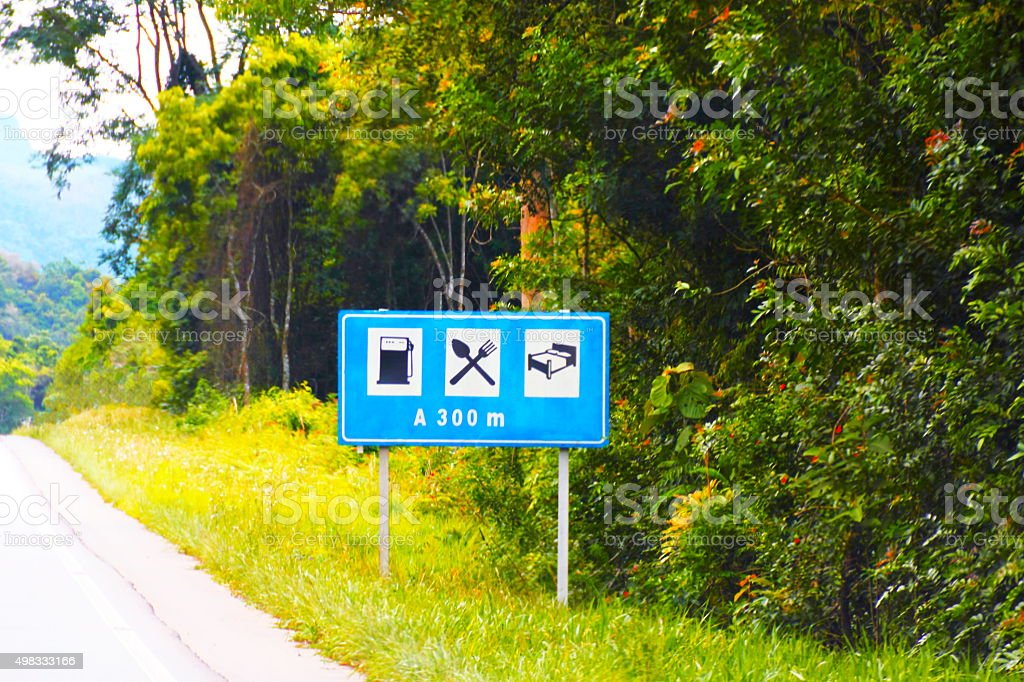 Brazilian Road signs. stock photo