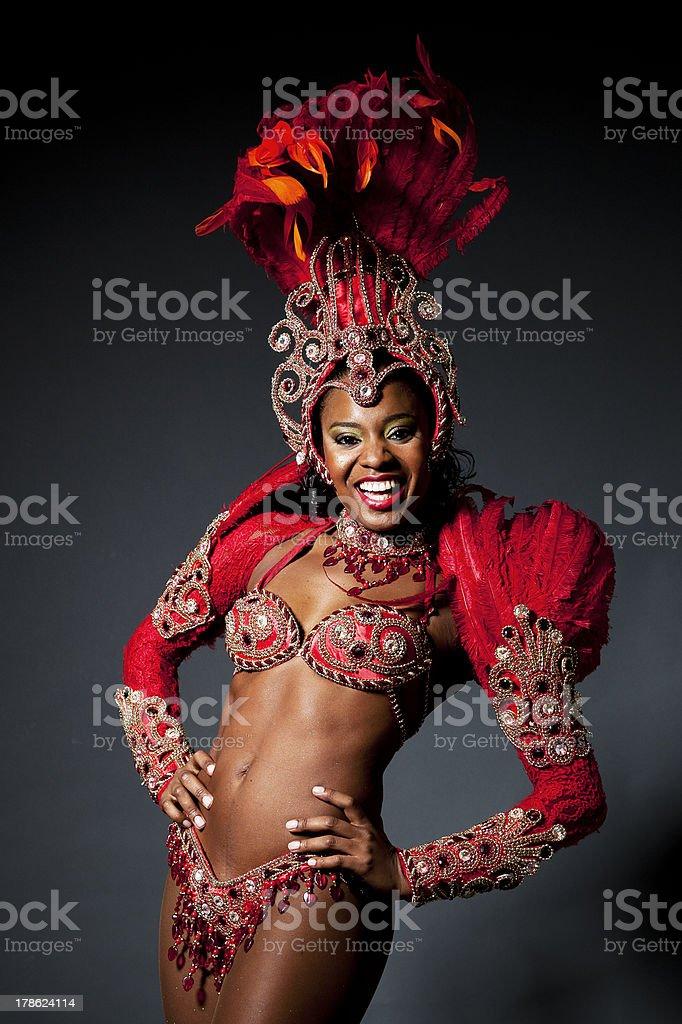 Brazilian Samba Dancer royalty-free stock photo