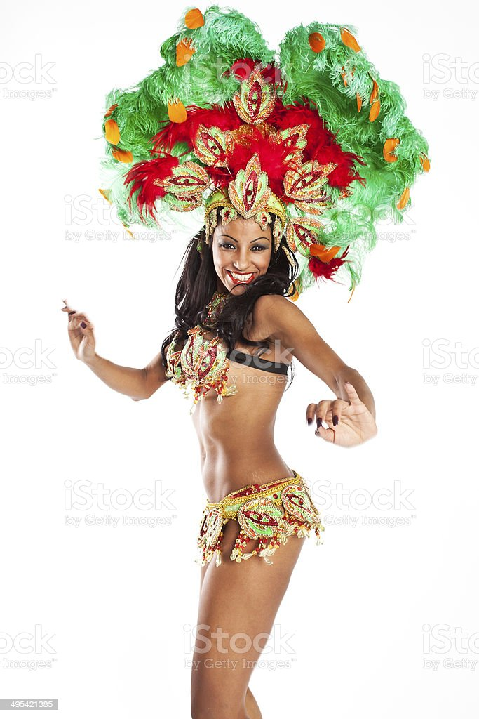 Brazilian Samba Dancer stock photo