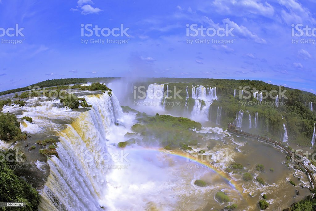 Brazilian side of the Iguazu Falls stock photo