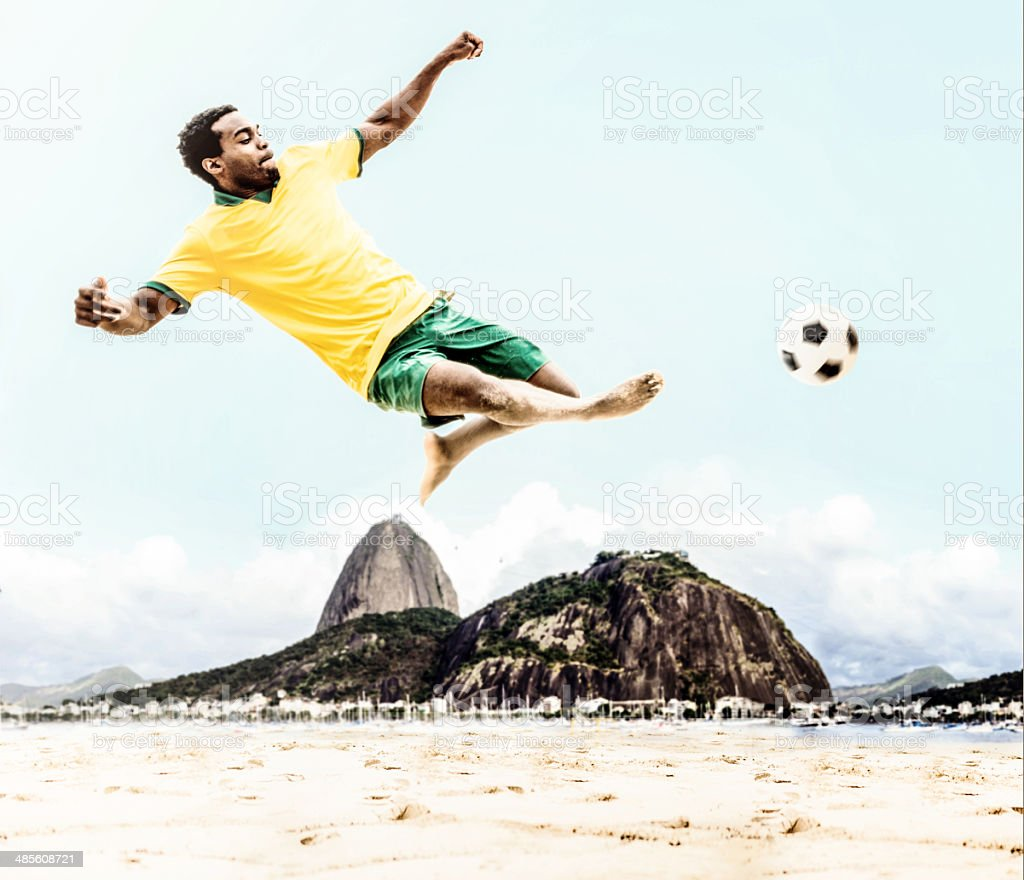 Brazilian soccer player royalty-free stock photo