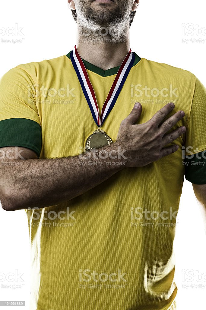 Brazilian soccer player royalty-free stock photo