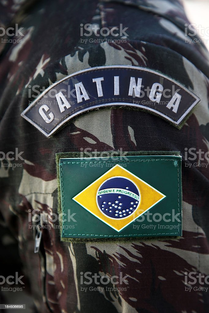 Brazilian specialized military royalty-free stock photo