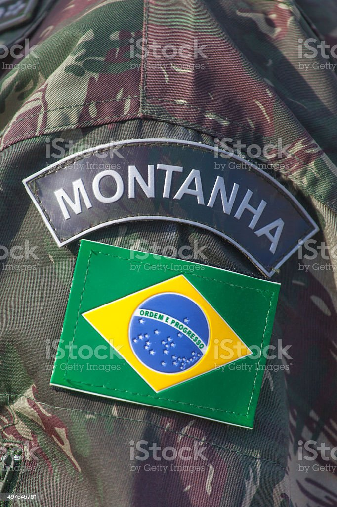 Brazilian specialized military royalty-free stock photo