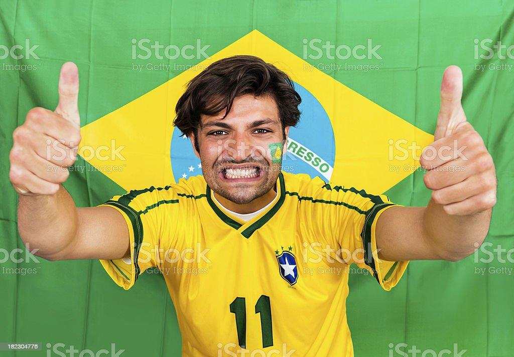 Brazilian sports fan royalty-free stock photo