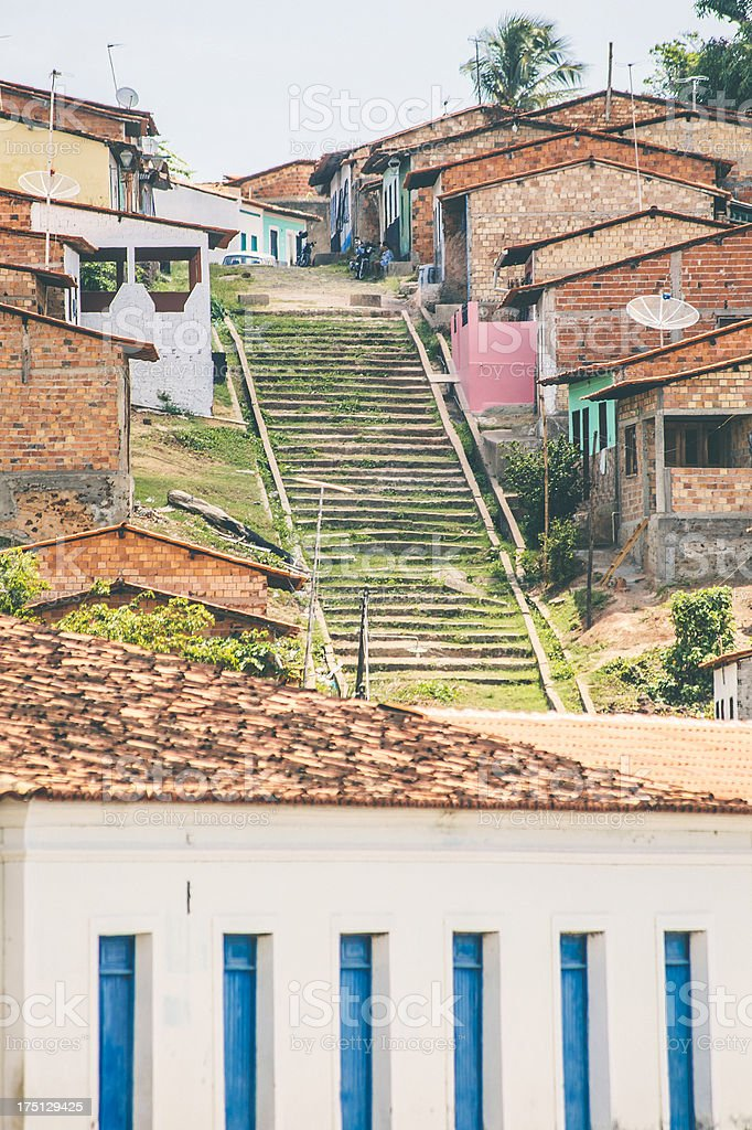 Brazilian town. royalty-free stock photo