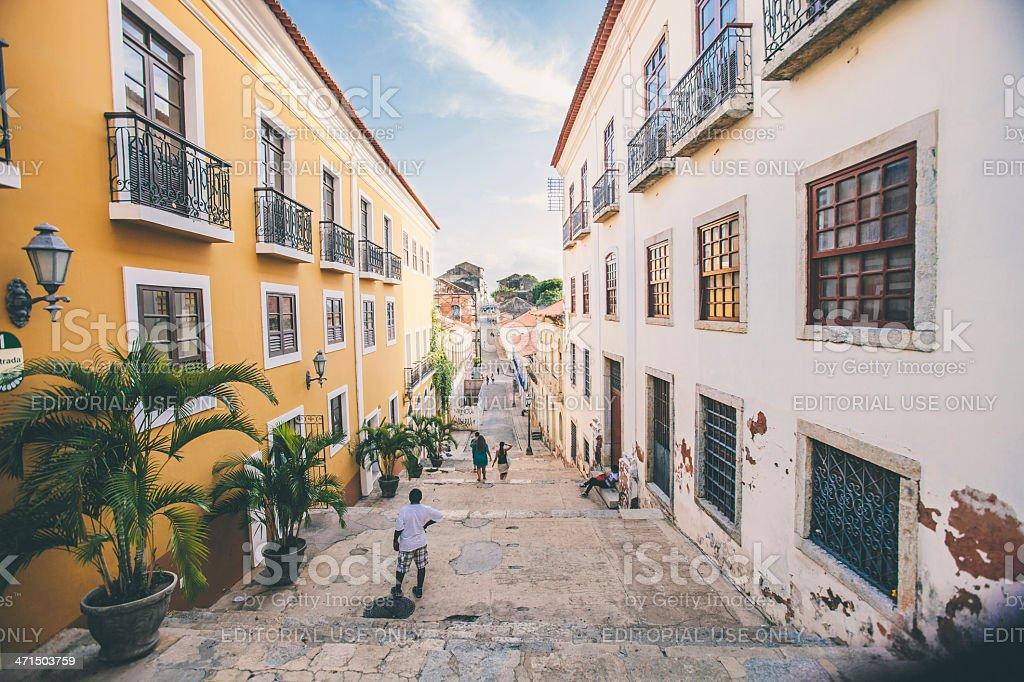 Brazilian town. stock photo