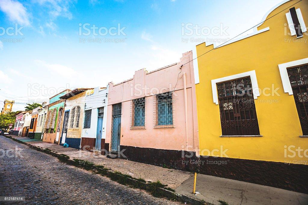 Brazilian town. Sao Luis, Maranhao. stock photo