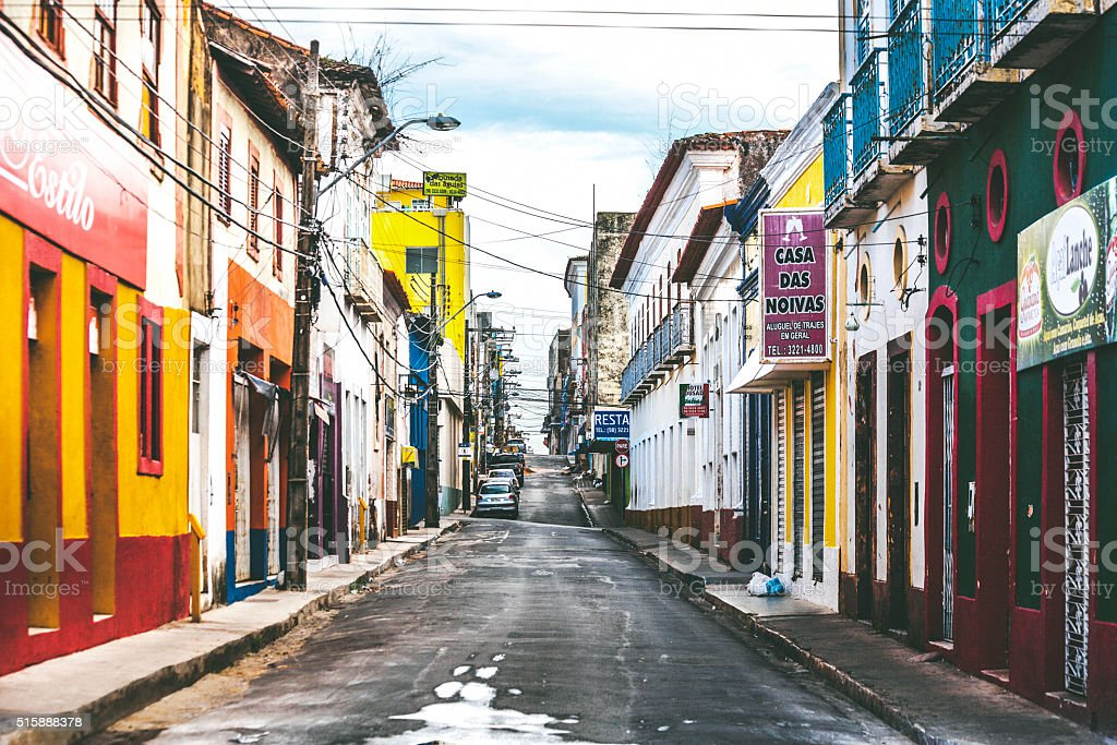 Brazilian town - Sao Luis, Maranhao. stock photo