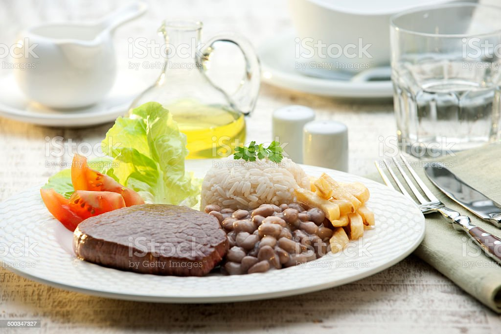 Brazilian typical lunch stock photo