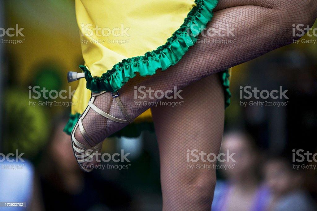 Brazilian woman dancing stock photo