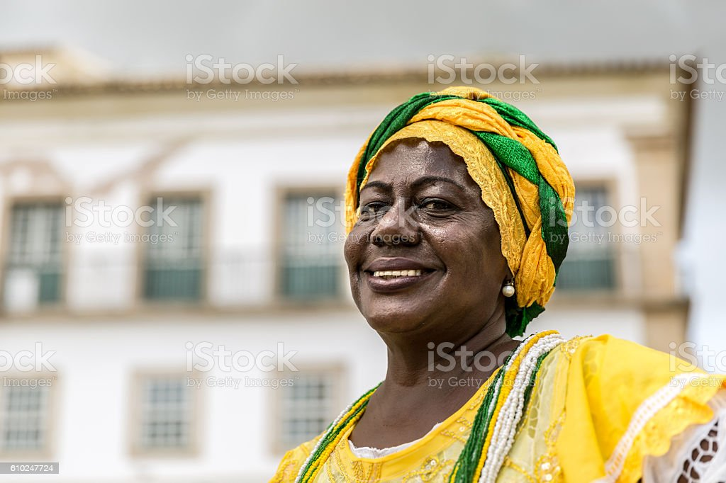 Brazilian woman of African descent, Bahia, Brazil stock photo