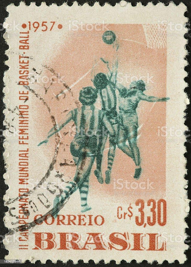 Brazilian women basketball players 1957 stock photo