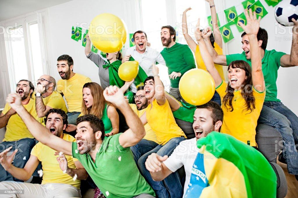 Brazillian supporters stock photo